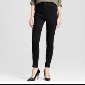 Mossimo Highest Rise Skinny Jeans Black